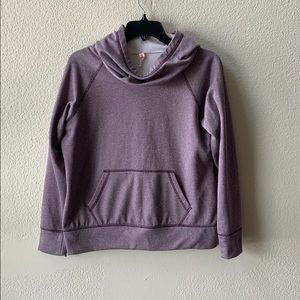 Lucy Purple Cowl Neck Hoodie